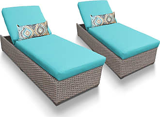 TK Classics Florence Chaise Set of 2 Outdoor Wicker Patio Furniture (Wicker - White)