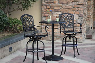 DARLEE Outdoor Darlee Florence 3 Piece Aluminum Round Counter Height Patio Bistro Set - 201020-3PC-60BJ-AB