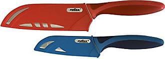 Zyliss 2 Piece Santoku Knife Set with Sheath Covers, Stainless Steel