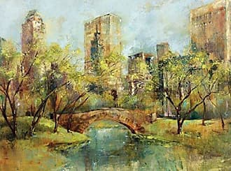 Portfolio Canvas Decor Portfolio Canvas Decor Large Printed Canvas Wall Art Painting, 30 by 40-Inch, Spring in The Park, Framed and Stretched Ready to Hang