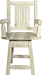 Montana Woodworks MWHCBSWSCAS24 Homestead Collection Counter Height Swivel Captains Barstool, Ready to Finish