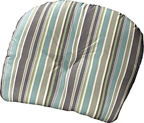 Cushion Source 22 x 20 in. Striped Sunbrella Chair Back Cushion Foster Surfside - VXHVR-56049