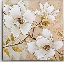 WEXFORD HOME Carol Robinson Golden Dogwood II Gallery Wrapped Canvas Wall Art, 32x32, Danita Delimont Mays Whisper