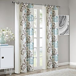 Madison Park Blue Curtains for Living Room, Modern Contemporary Grommet Curtains for Bedroom, Anaya Print Fabric Window Curtains, 50x84, 1-Panel Pack