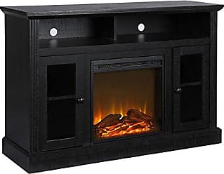 Ameriwood Home Chicago Fireplace TV Stand for TVs up to 50, Black