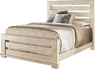 Progressive Furniture P610-80/81/78 Willow Bedroom, King, Distressed White