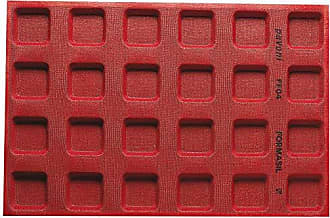 Paderno World Cuisine 47775-04 Micro Perforated Mold 2 1/2 x 2 1/2 Red
