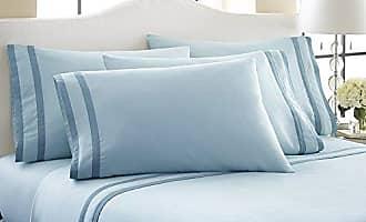 Amrapur Overseas 1000TC Rich Bed Sheet Set 6PC - Blue - Size: Queen