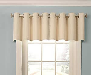 Ellery Homestyles Beautyrest Malbrouk 52 x 18 Short Valance Small Window Blackout Curtains Bathroom, Living Room and Kitchens, 52x18, Ivory