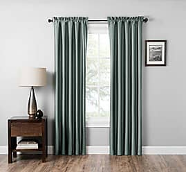 Ellery Homestyles Eclipse 15936042X063SEB Mile 42-Inch by 63-Inch Thermaback Single Window Curtain Panel, Smokey Blue