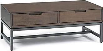 Simpli Home Simpli Home AXCBAN-01 Banting Solid Hardwood and Metal 48 inch Wide Modern Industrial Coffee Table in Walnut Brown