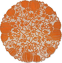 Heritage Lace Orange 42 Pumpkin Round Table Topper
