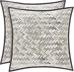 Five Queens Court Haven Basket Weave Chevron 100% Twill Cotton Euro Sham, Lavender, 26x26