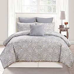 Duck River Textile Duck River Textile Mathylda Hotel Quality Luxury Comforter Duvet Insert Cover 100% Ultra Soft Hypoallergenic | 10 Piece Set | Floral Collection, | | Queen Size | |, Taupe