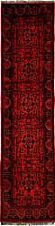 Nain Trading Afghan Mauri Rug 911x24 Dark Red (Afghanistan, Hand-Knotted, Wool)