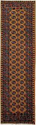 Nain Trading Afghan Akhche Baghlan Rug 94x27 Runner Dark Grey/Brown (Afghanistan, Wool, Hand-Knotted)