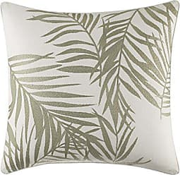 Revman International Tommy Bahama Palms Away Leaf Embroidery Throw Pillow, 16x16, Light Beige