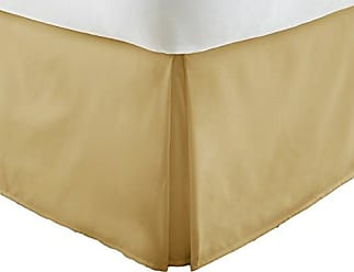 iEnjoy Home Becky Cameron Bedskirt ienjoy Home Luxury Pleated Dust Ruffle Bed Skirt, Full, Gold