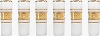 Zodax Melilla Shot Glass, Gold Satin (Set of 6)