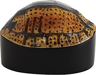 Creative Co-op Resin Turtle Shell Box, Brown