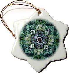 3D Rose orn_6726_1 Irish Earth Cross Porcelain Snowflake Ornament, 3-Inch