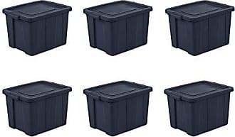 Sterilite 16788N06 Storage Tote, 18 Gallon, Dark Indigo, Pack of 6