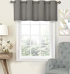 Ellery Homestyles Eclipse 15450052018SMK Nadya 52-Inch by 18-Inch Solid Grommet Valance, Smoke
