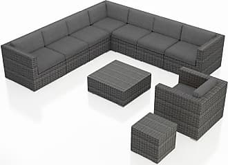Harmonia Living Outdoor Harmonia Living District 10 Piece Club Chair Sectional Patio Conversation Set Indigo - HL-DIS-TS-10CCSEC-IN