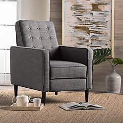 Christopher Knight Home 300595 Mid Century Modern Recliner, Grey