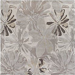 Surya ATH-5135 Hand Tufted Floral and Paisley Area Rug, 6-Feet Square