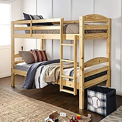 Walker Edison WE Furniture AZWSTOTNL Twin Bunk Bed, Natural
