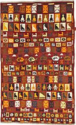 Nain Trading Baluch Rug 62x39 Beige/Orange (Afghanistan, Hand-Knotted, Wool)