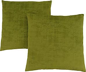 Monarch Specialties Brushed Velvet 18 x 18 Lime Green 2 Piece Pillow, Size 8