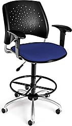 OFM 326-AA3-DK-2210 Stars Swivel Stool with Arms