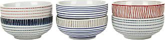 Pols Potten Block Stripe Bowls - Set of 6 - Medium