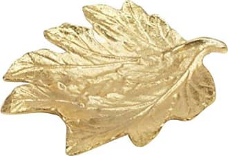 Zodax Decorative Dish Holiday Accent, Maple Leaf Shaped, Gold (Set of 4)
