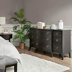 Madison Park Tracer 3 Drawer Chest Brown Multi//Walnut See Below