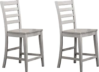 Winners Only 24 in. Ladderback Counter Stool - Set of 2 - WIN655-1