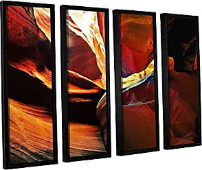 ArtWall 4 Piece Linda Parkers Slot Canyon Light from Above 2 Floater Framed Canvas Artwork, 36 x 48