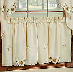 Sweet Home Collection Kitchen Window Tier, Swag, or Valance Curtain Treatment in Stylish and Unique Patterns and Designs for All Home Décor, 24, Sunflower