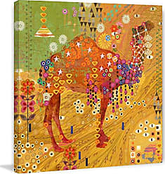 Marmont Hill 40x40 Camels of Thar by Evelia Painting Print on Wrapped Canvas, 40 x 40