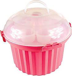 Fox Run Craftsmen Fox Run 6973 Cupcake Carousel, Plastic, 24-Cups, Pink