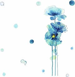 RoomMates Blue Poppies Giant Peel And Stick Wall Decals - RMK3824GM