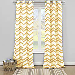 Duck River Textile s - Vauxhall Geometric Faux Linen Textured Grommet Top Window Curtains for Living Room & Bedroom - Assorted Colors - Set of 2 Panels (40 X 84 Inch - Charcoal)