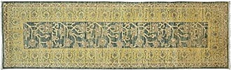 Solo Rugs Eclectic Hand Knotted Runner Rug 3 0 x 9 10 Yellow