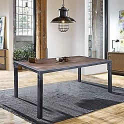 Armen Living LCLSDISBPI Lars Dining Table, Industrial Grey