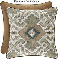 Five Queens Court Plainview Southwest 20 Square Decorative Throw Pillow, Spa, 20x20