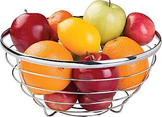 Plateado Mate 27,4 cm x 20,1 cm InterDesign iDesign Austin Cesta met/álica con Porta Bananas frutero de Cocina Redondo de Metal