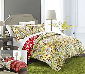 Chic Home 2 Piece Paisley Global Inspired Delhi Reversible Duvet Set, Twin, Gold