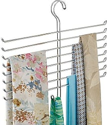 InterDesign Classico Spine Scarf Closet Organizer Hanger, Hanging Storage Ideal for Bedrooms, Mudrooms, Dorm Rooms, No Hardware Required, 12.6 x 16 x.75, Holder
